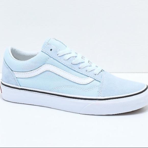 RARE - Vans Old Skool Baby Blue & True White Shoes